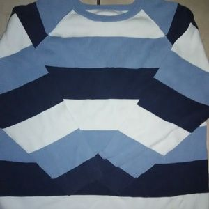 Old Navy Blue & White Striped Sweater